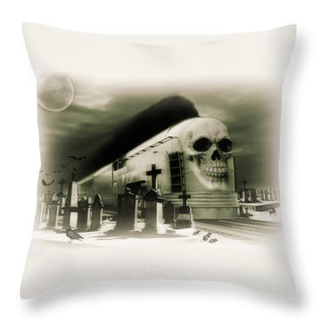 Journeys End Throw Pillow by Steven Agius