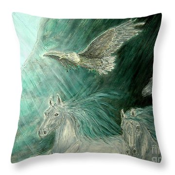 Journeyscape-out Of Darkness Throw Pillow
