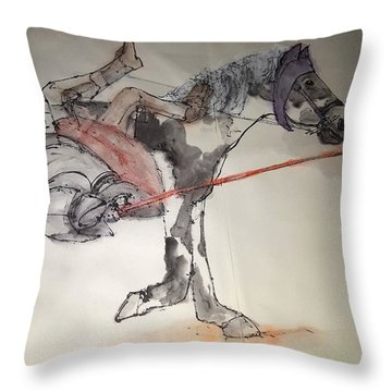 Jousting And Falcony Album  Throw Pillow