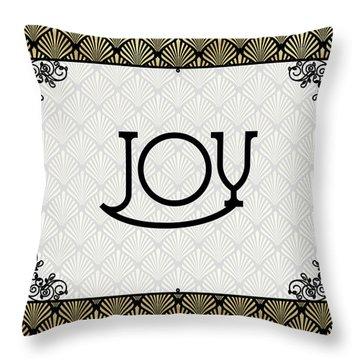 Joy - Art Deco Throw Pillow