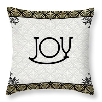 Joy - Art Deco Throw Pillow
