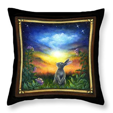 Joy Comes In The Morning Throw Pillow by Retta Stephenson