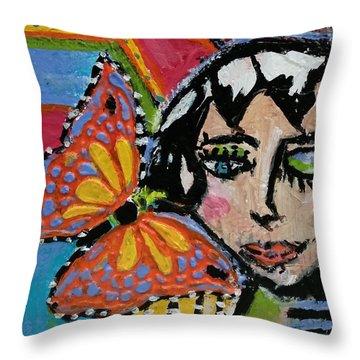Joy - Vivid Vixen 10 Throw Pillow