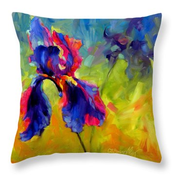 Throw Pillow featuring the painting Joy In The Morning by Chris Brandley