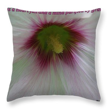 Joy Is A Heart Full Of Gratitude Throw Pillow