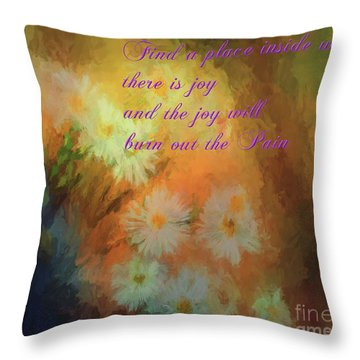 Throw Pillow featuring the mixed media Joy by Jim  Hatch