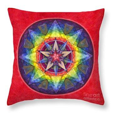 Joy Mandala Throw Pillow