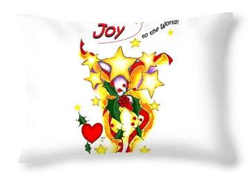 Joy To The World Throw Pillow by Melodye Whitaker
