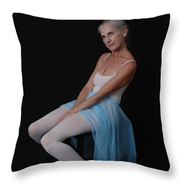 Throw Pillow featuring the photograph Joy Of Dance by Nancy Taylor