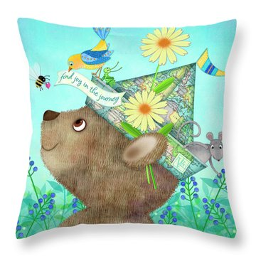 Joy Of The Journey Throw Pillow