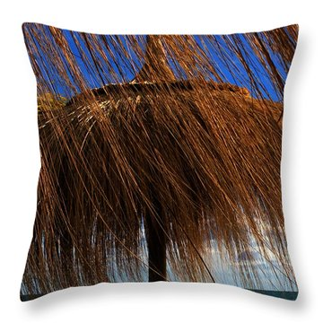 Joy On Beach Spain  Throw Pillow
