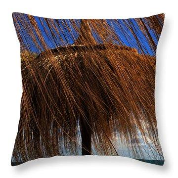 Joy On Beach Spain  Throw Pillow
