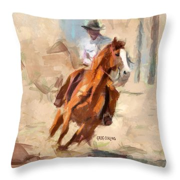 Joy Ride Throw Pillow by Greg Collins