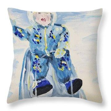 Joy Ride Throw Pillow