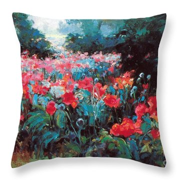 Throw Pillow featuring the painting Joy by Rosario Piazza