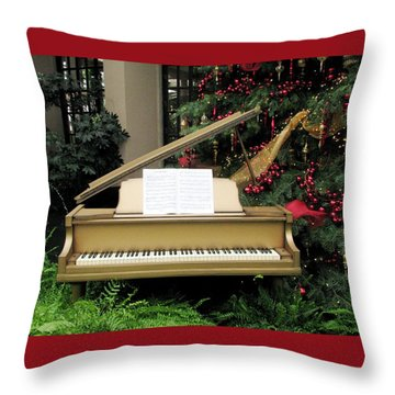 Joy To The World Throw Pillow by Angela Davies