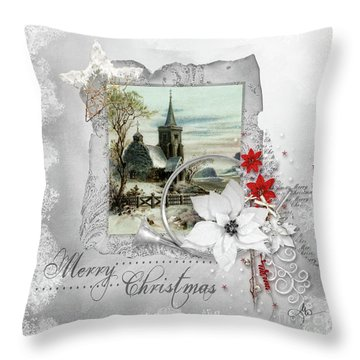 Joy To The World Throw Pillow by Mo T