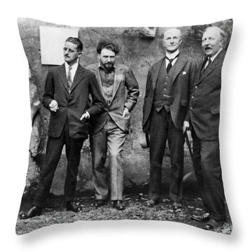 Joyce, Pound, Quinn & Ford Throw Pillow by Granger