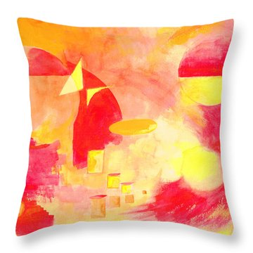 Joyful Abstract Throw Pillow