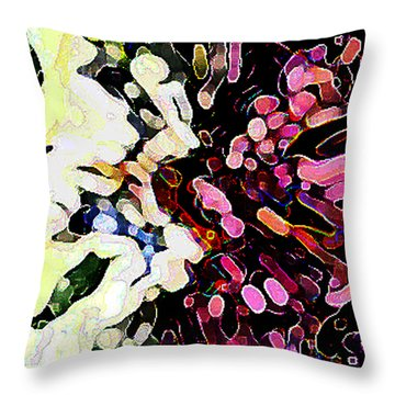 Joyful  By Rjfxx. - An  Original Abstract Art Painting Throw Pillow