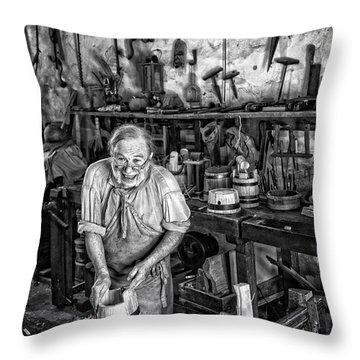 Throw Pillow featuring the photograph Joyful Cooper by Alan Raasch