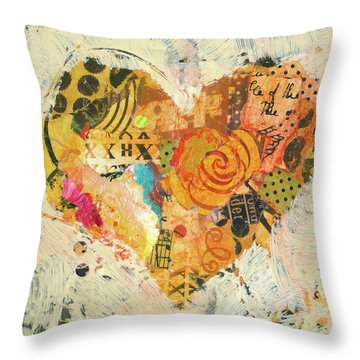 Joyful Heart 12 Throw Pillow