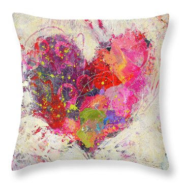 Joyful Heart 3 Throw Pillow
