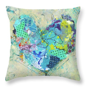 Joyful Heart 4 Throw Pillow