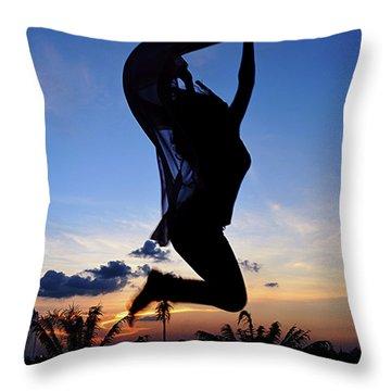 Joyful Jump Throw Pillow
