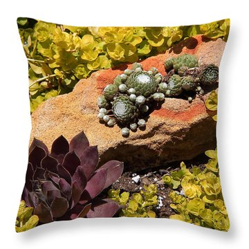 Joyful Living In Hard Times Throw Pillow