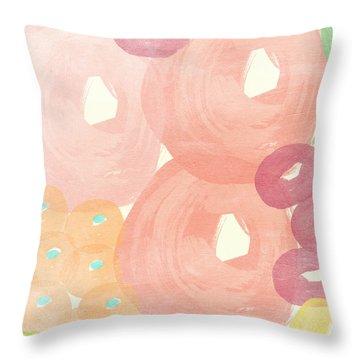 Joyful Rose Garden Throw Pillow