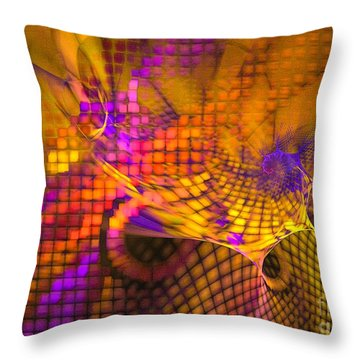 Throw Pillow featuring the digital art Joyride - Abstract Art by Sipo Liimatainen