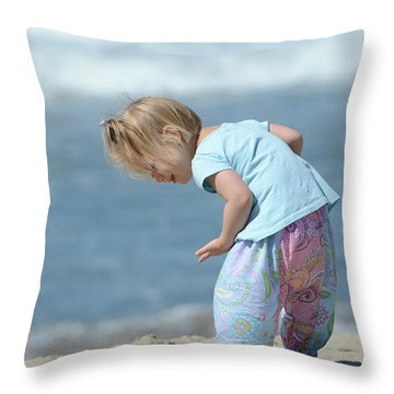 Throw Pillow featuring the photograph Joys Of Childhood by Fraida Gutovich