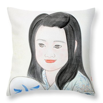 Jozen Mizu No Gotoshi Throw Pillow