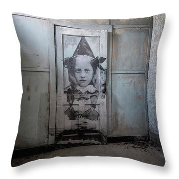 Throw Pillow featuring the photograph Jr On The Door by Tom Singleton