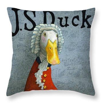 J.s. Duck Throw Pillow