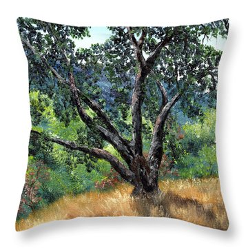 Juan Bautista De Anza Trail Oak Throw Pillow