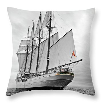 Juan Sebastian De Elcano In Its World Wild Travel Throw Pillow