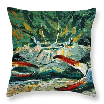 Throw Pillow featuring the painting Jubilee Jewel by Suzanne McKee