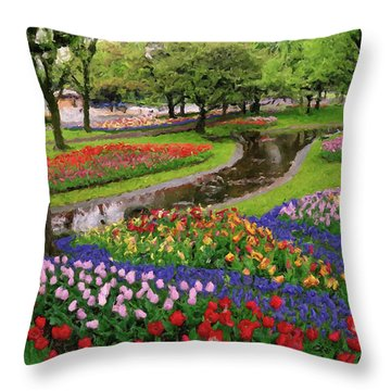Throw Pillow featuring the digital art Jubilee  by Rosario Piazza