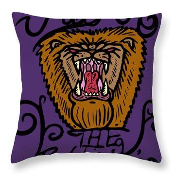 Judah The Real Lion King Throw Pillow