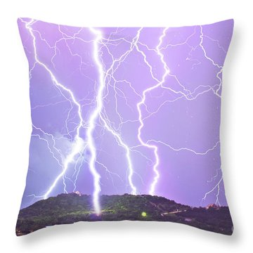 Judgement Day Lightning Throw Pillow