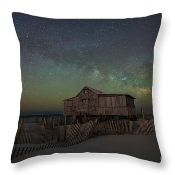 Throw Pillow featuring the photograph Judge's Shack Milky Way by Michael Ver Sprill