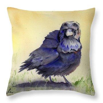 Judy's Raven Throw Pillow