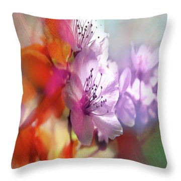 Juego Floral Throw Pillow by Alfonso Garcia