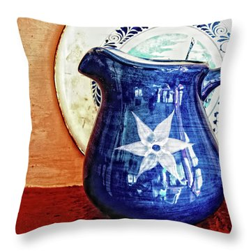 Jug Throw Pillow by Charuhas Images