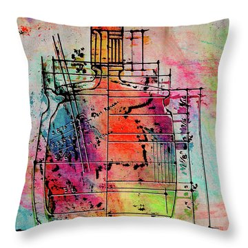 Jug Drawing Throw Pillow by Don Gradner