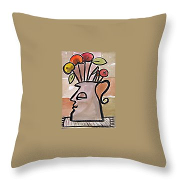 Jug Face Throw Pillow