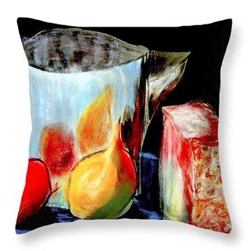 Jug With Fruit Throw Pillow