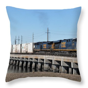 Throw Pillow featuring the photograph Juice Train by John Black